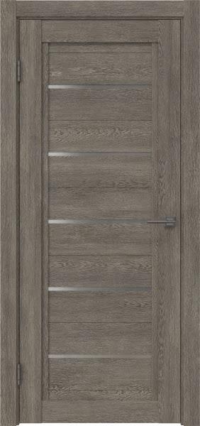 Межкомнатная дверь RM017 (экошпон «серый дуб» / матовое стекло)