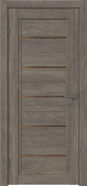 Межкомнатная дверь RM017 (экошпон «серый дуб» / стекло бронзовое)