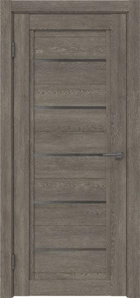 Межкомнатная дверь RM017 (экошпон «серый дуб» / стекло графит)