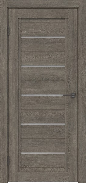 Межкомнатная дверь RM017 (экошпон «серый дуб» / лакобель белый)