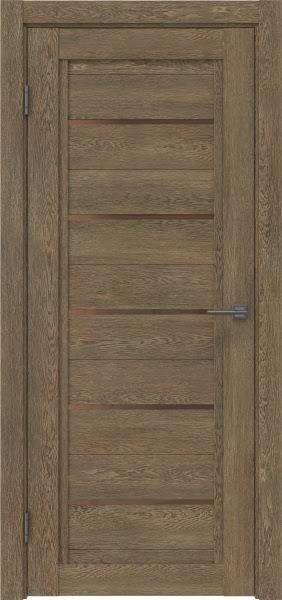 Межкомнатная дверь RM017 (экошпон «дуб антик» / стекло бронзовое)