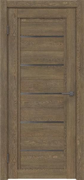 Межкомнатная дверь RM017 (экошпон «дуб антик» / стекло графит)