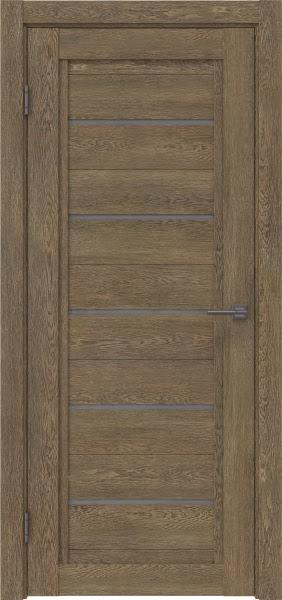 Межкомнатная дверь RM017 (экошпон «дуб антик» / лакобель серый)
