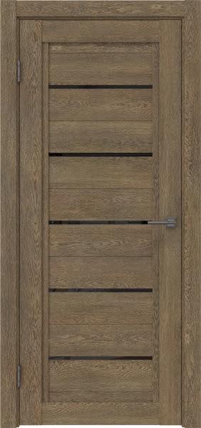 Межкомнатная дверь RM017 (экошпон «дуб антик» / лакобель черный)
