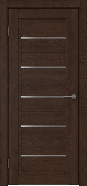Межкомнатная дверь RM017 (экошпон «дуб шоколад» / матовое стекло)
