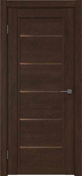 Межкомнатная дверь RM017 (экошпон «дуб шоколад» / стекло бронзовое)
