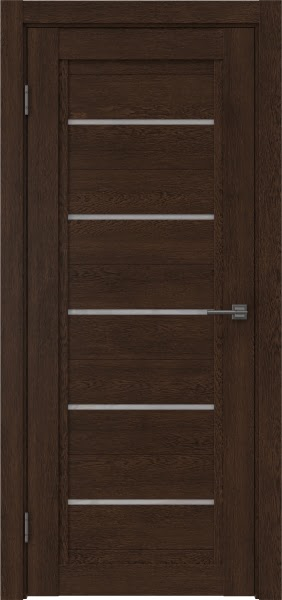 Межкомнатная дверь RM017 (экошпон «дуб шоколад» / лакобель белый)
