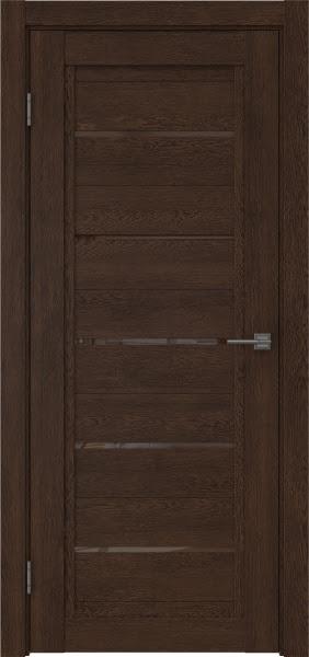 Межкомнатная дверь RM017 (экошпон «дуб шоколад» / лакобель коричневый)