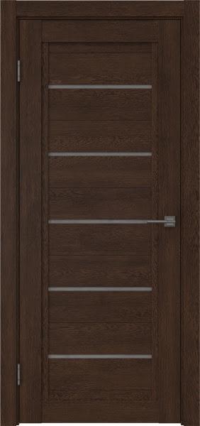 Межкомнатная дверь RM017 (экошпон «дуб шоколад» / лакобель серый)