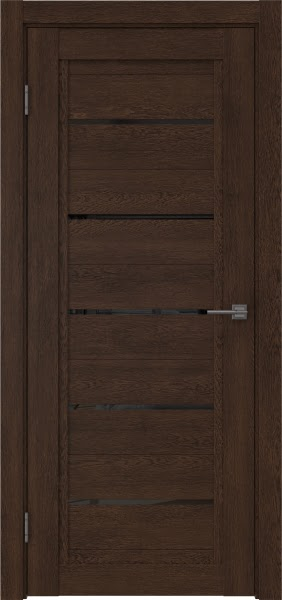 Межкомнатная дверь RM017 (экошпон «дуб шоколад» / лакобель черный)