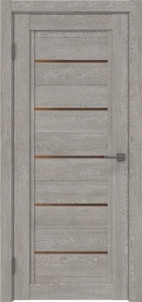 Межкомнатная дверь RM017 (экошпон «дымчатый дуб» / стекло бронзовое)
