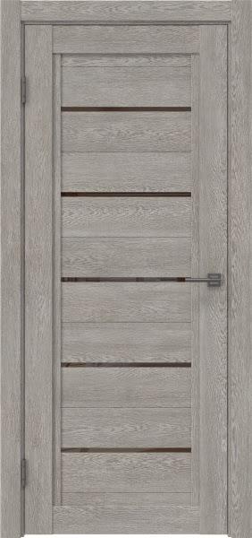 Межкомнатная дверь RM017 (экошпон «дымчатый дуб» / лакобель коричневый)