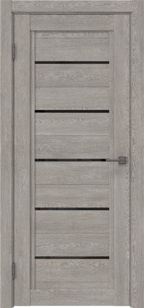 Межкомнатная дверь RM017 (экошпон «дымчатый дуб» / лакобель черный)