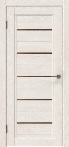 Межкомнатная дверь RM017 (экошпон «белый дуб» / стекло бронзовое)