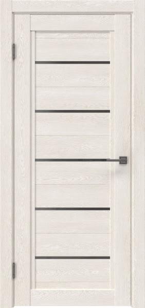 Межкомнатная дверь RM017 (экошпон «белый дуб» / стекло графит)
