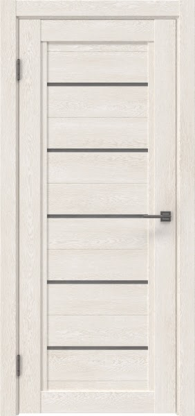 Межкомнатная дверь RM017 (экошпон «белый дуб» / лакобель серый)