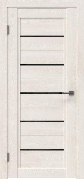 Межкомнатная дверь RM017 (экошпон «белый дуб» / лакобель черный)