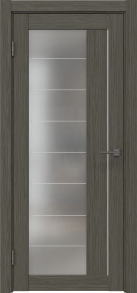 Межкомнатная дверь RM018 (экошпон «грей мелинга» / матовое стекло)