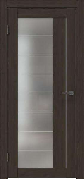 Межкомнатная дверь RM018 (экошпон «мокко» / матовое стекло)