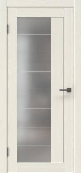 Межкомнатная дверь RM018 (экошпон «эш вайт мелинга» / матовое стекло)