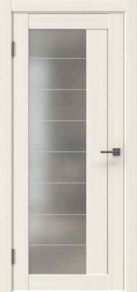 Межкомнатная дверь RM018 (экошпон «сандал белый» / матовое стекло)