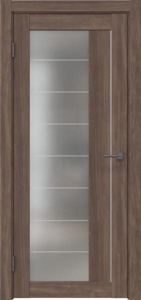 Межкомнатная дверь RM018 (экошпон «античный орех» / матовое стекло)