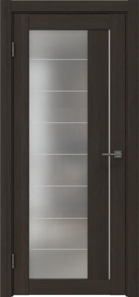 Межкомнатная дверь RM018 (экошпон «венге мелинга» / матовое стекло)