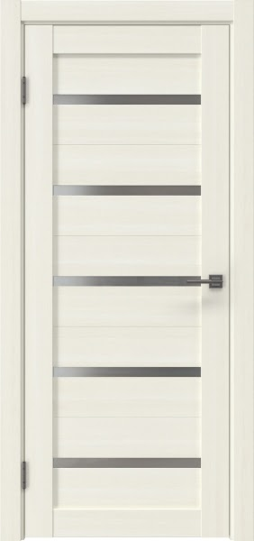 Межкомнатная дверь RM020 (экошпон «сандал белый» / матовое стекло)