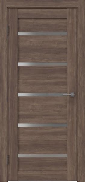 Межкомнатная дверь RM020 (экошпон «античный орех» / матовое стекло)