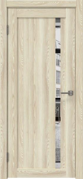 Межкомнатная дверь RM022 (экошпон «клен экрю» / зеркало)