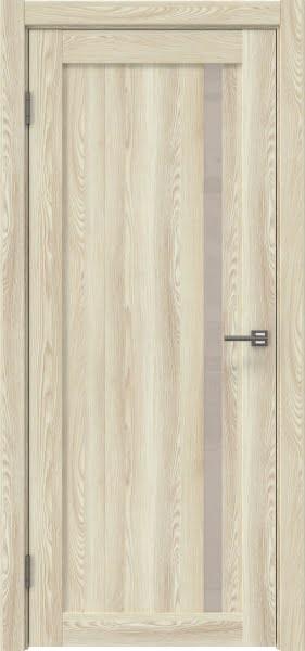 Межкомнатная дверь RM022 (экошпон «клен экрю» / лакобель бежевый)