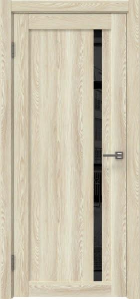 Межкомнатная дверь RM022 (экошпон «клен экрю» / лакобель черный)