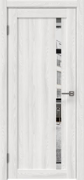 Межкомнатная дверь RM022 (экошпон «ясень айс» / зеркало)