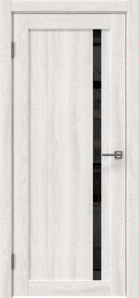 Межкомнатная дверь RM022 (экошпон «ясень айс» / лакобель черный)