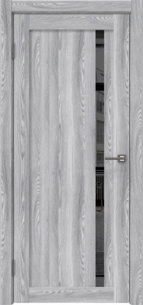 Межкомнатная дверь RM022 (экошпон «ясень грей» / зеркало тонированное)