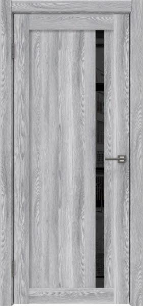 Межкомнатная дверь RM022 (экошпон «ясень грей» / лакобель черный)