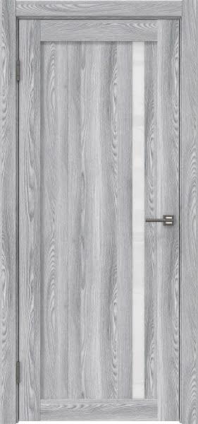 Межкомнатная дверь RM022 (экошпон «ясень грей» / лакобель белый)