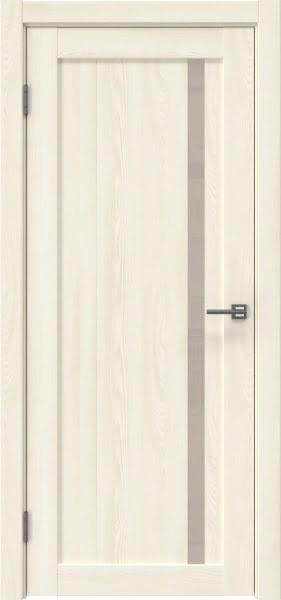 Межкомнатная дверь RM022 (экошпон «ясень крем» / лакобель бежевый)
