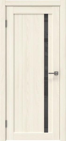 Межкомнатная дверь RM022 (экошпон «ясень крем» / лакобель серый)