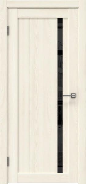 Межкомнатная дверь RM022 (экошпон «ясень крем» / лакобель черный)