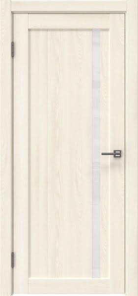 Межкомнатная дверь RM022 (экошпон «ясень крем» / лакобель белый)