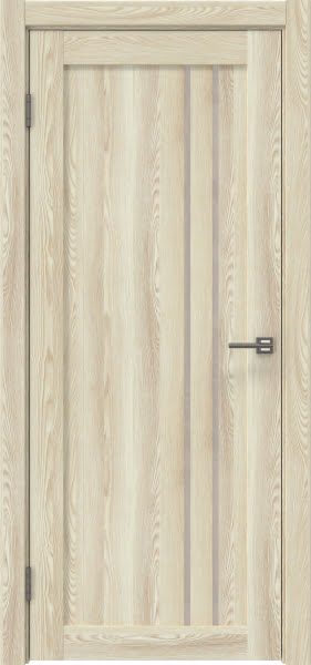 Межкомнатная дверь RM023 (экошпон «клен экрю» / лакобель бежевый)