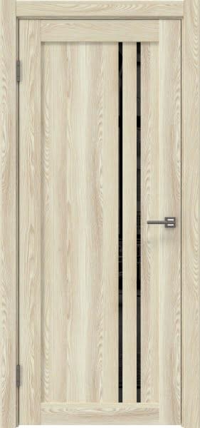 Межкомнатная дверь RM023 (экошпон «клен экрю» / лакобель черный)