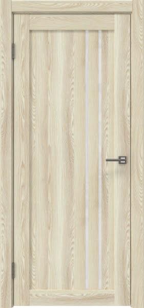 Межкомнатная дверь RM023 (экошпон «клен экрю» / лакобель белый)