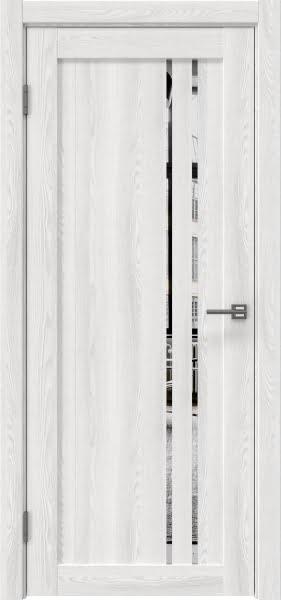 Межкомнатная дверь RM023 (экошпон «ясень айс» / зеркало)