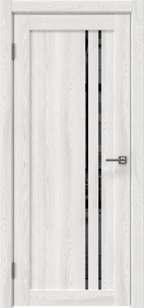 Межкомнатная дверь RM023 (экошпон «ясень айс» / зеркало тонированное)