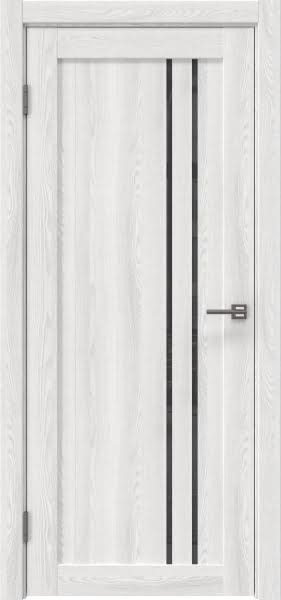 Межкомнатная дверь RM023 (экошпон «ясень айс» / лакобель серый)