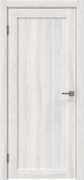 Межкомнатная дверь RM023 (экошпон «ясень айс» / лакобель белый)
