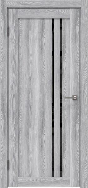 Межкомнатная дверь RM023 (экошпон «ясень грей» / лакобель черный)