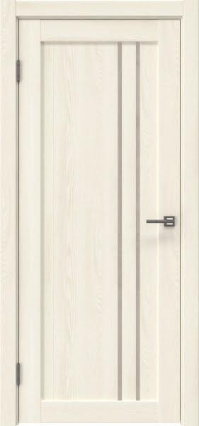 Межкомнатная дверь RM023 (экошпон «ясень крем» / лакобель бежевый)